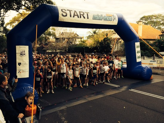The start of the 5km race