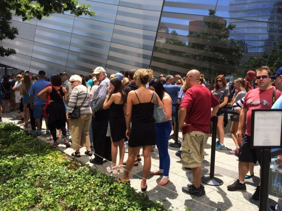The queue for tickets to the Museum