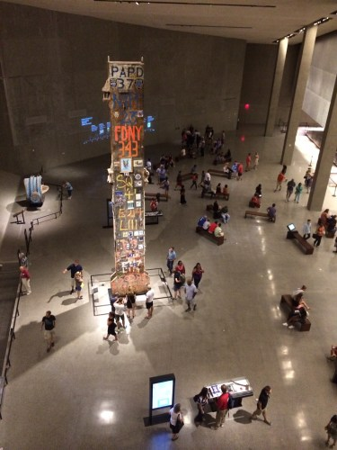Looking down into a section of the Museum