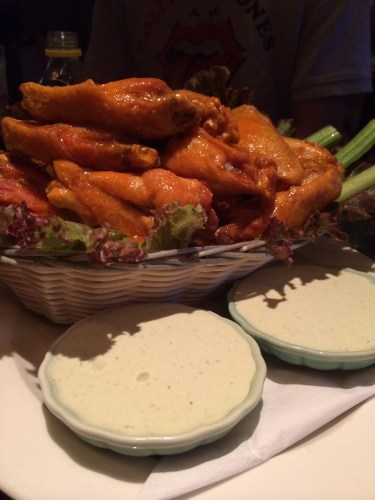 Buffalo wings from the bar menu $10.00