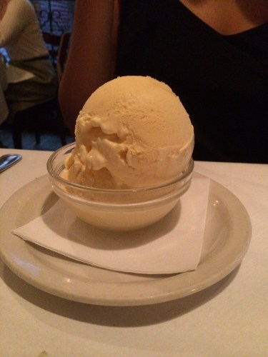 Vanilla ice cream:  $8.00