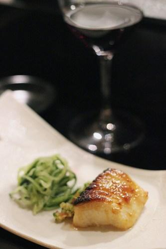 DengakuMan $38.00.  Caramelised miso cod, Japanese salsa, cucumber salad