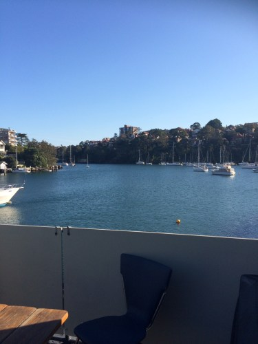 The view from the balcony at the Rowers'