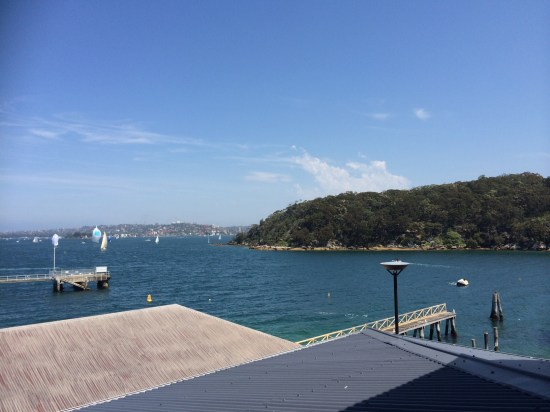 Views out to Sydney Harbour