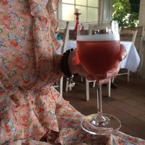 I do love a drink that matches my dress