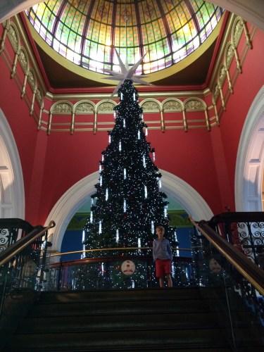 Visiting Santa at the Queen Victoria Building