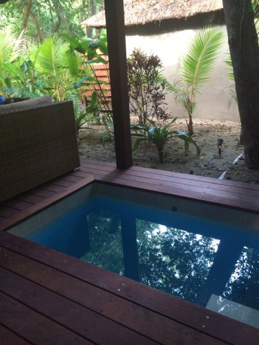 Fresh water plunge pool