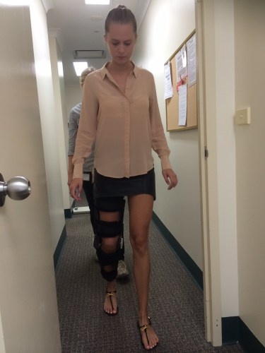 Learning to walk with a bent knee again