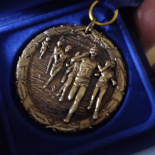 His medal