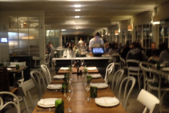 The long dining room