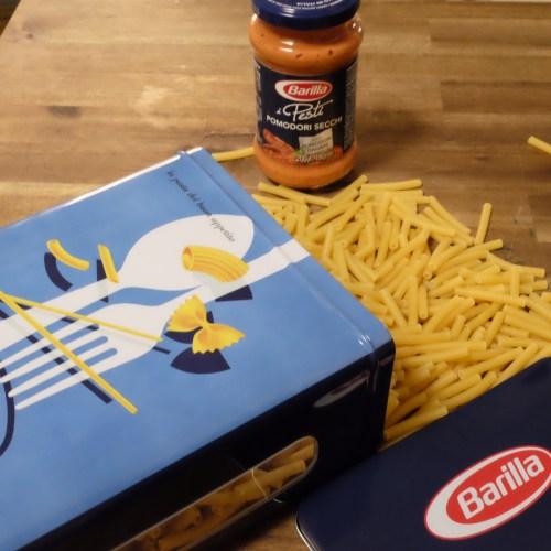 Retro Barilla pasta container