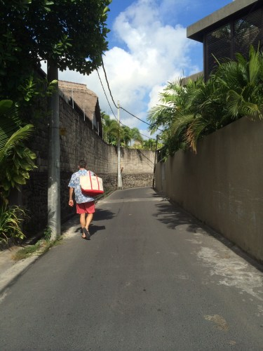 The lane/road leading to Peppers, Seminyak