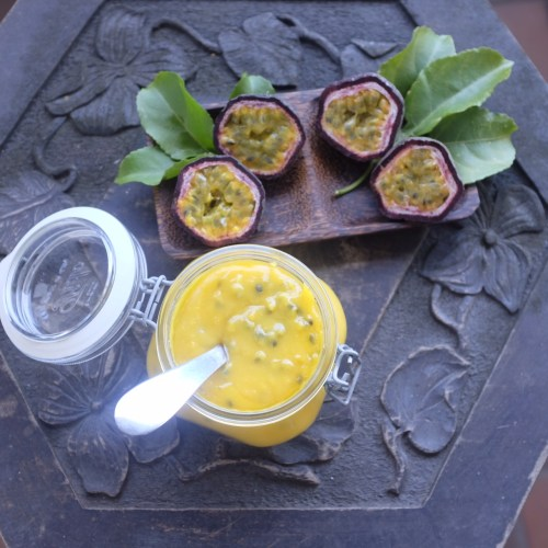 Passionfruit curd is versatile.