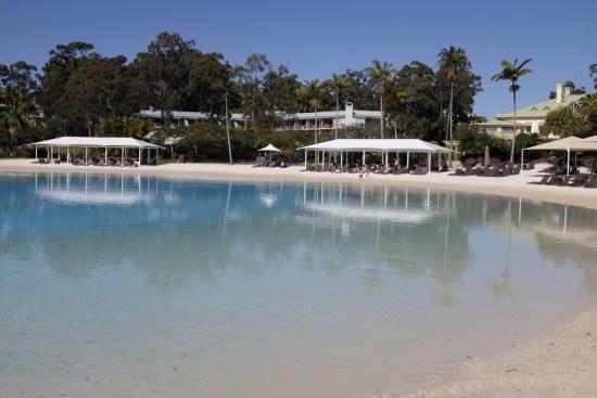 The lagoon pool isn't heated