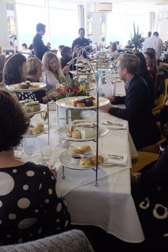 The high tea is very popular