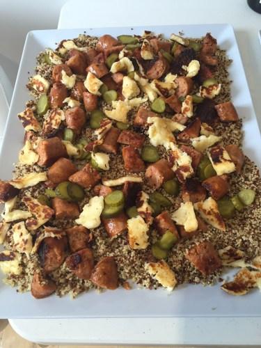 Quinoa and haloumi salad