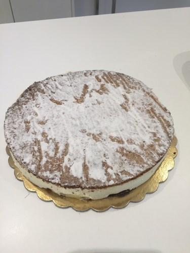 An Italian cheesecake