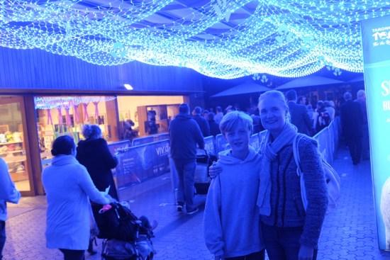 A canopy of fairy lights
