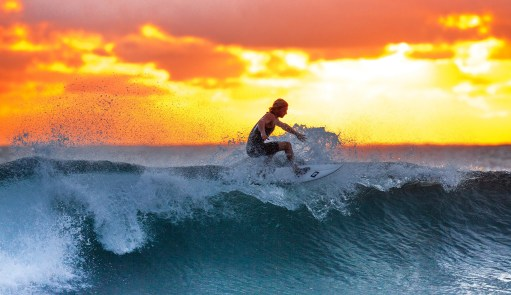 surfing with an australian man