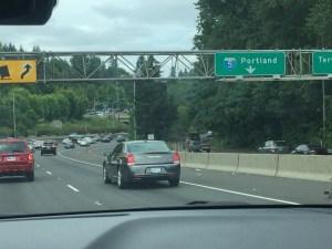 On the way to Portland Oregon