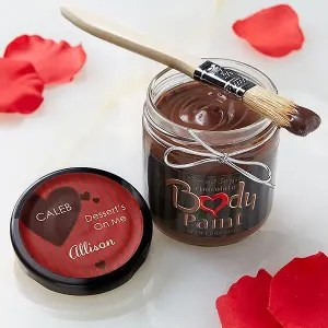 body chocolate paint, a gift to your partner on valentines day