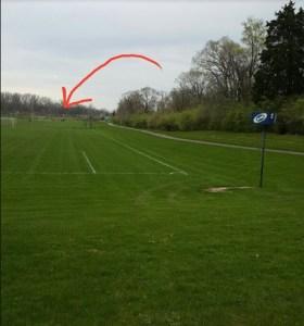 soccer field 3 miles away