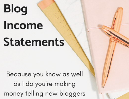 Blog income statement
