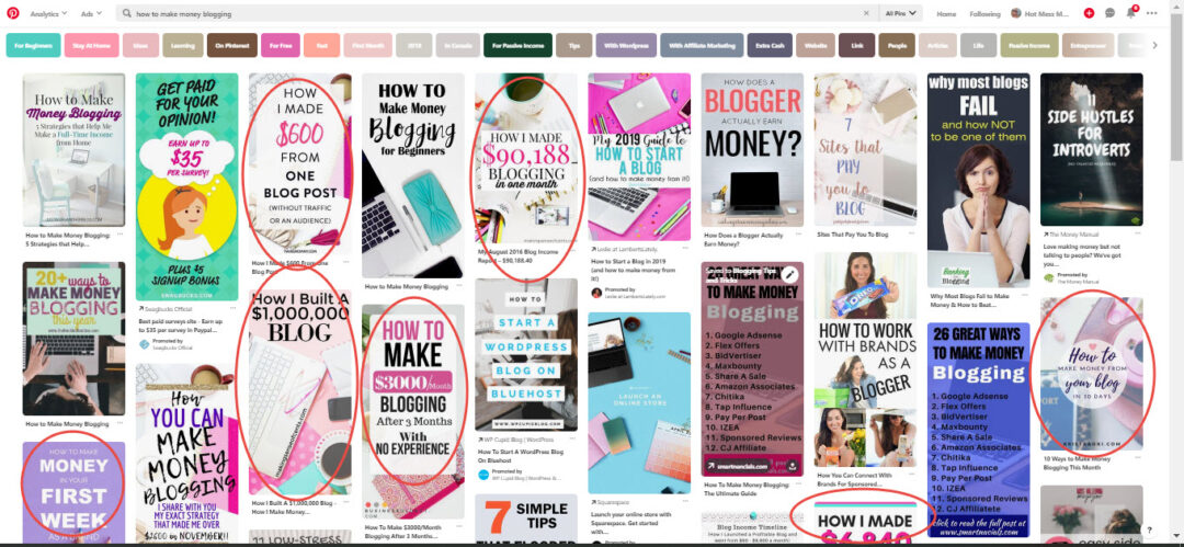 money and blogging