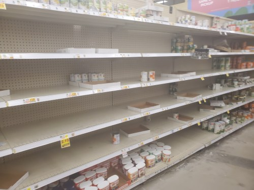 empty canned aisle