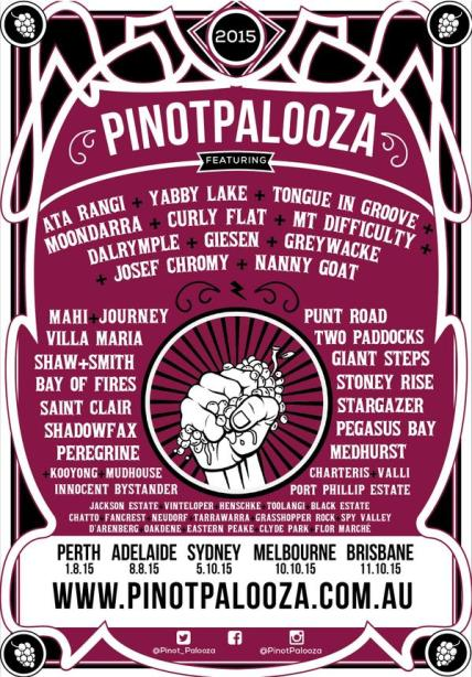 Pinot Palooza Wine Festival line-up and the podcast aftermath.