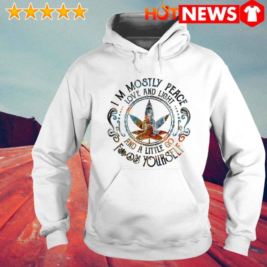 Download Cannabis Girl Yoga I'm mostly peace love and light and a ...