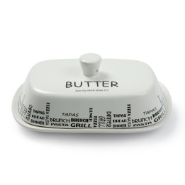 French Butter Dish (White)