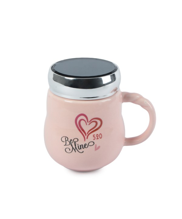 Pink Heart Vacuum Cup