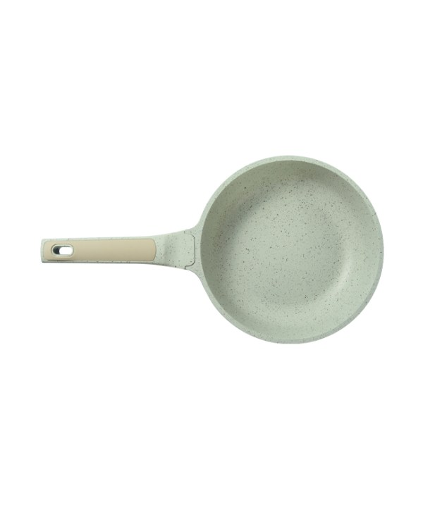 Large-sized Marble Frying Pan (Beige)