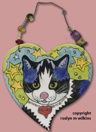 heart cat tiles Friday