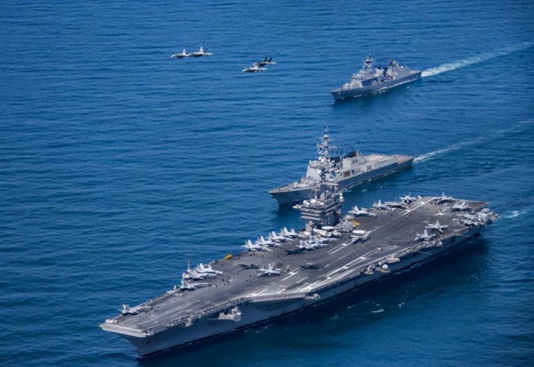 美上将:组建舰队部署中国周边!政客胡言可忽略,军方部署要重视