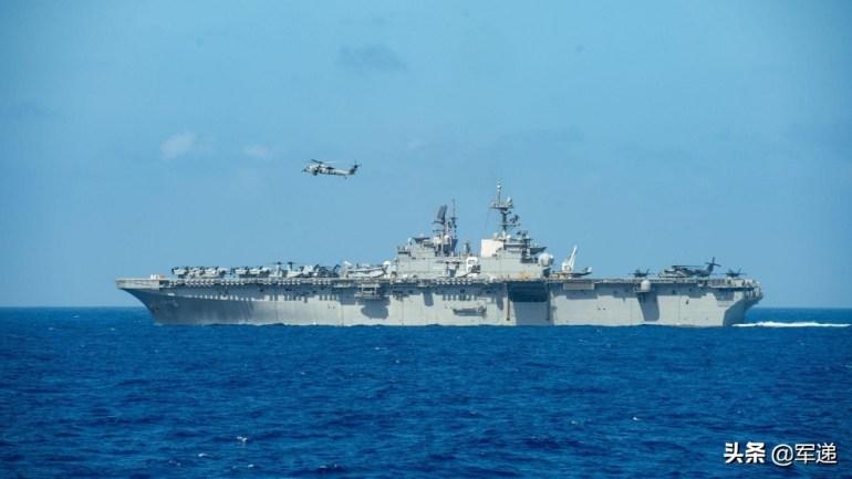 美军航母还未到南海,两栖攻击舰已战巡,五代机菲律宾海露出獠牙