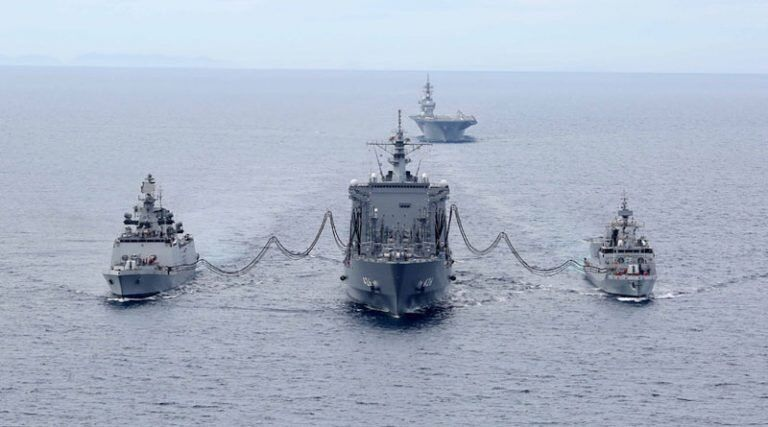 """印度国防部:美国航母及日本""""准航母""""将参加""""马拉巴尔""""第二阶段演习"""