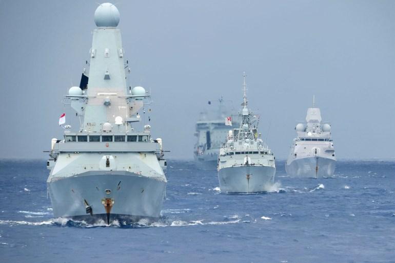 英国航母亚太战巡,遭遇尴尬,没有红茶就叫苦连天,战斗力在哪里