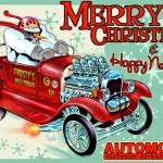 Hot Rod Santa Merry Christmas To All Hot Rod Carburetors Rochester Carburetor Service