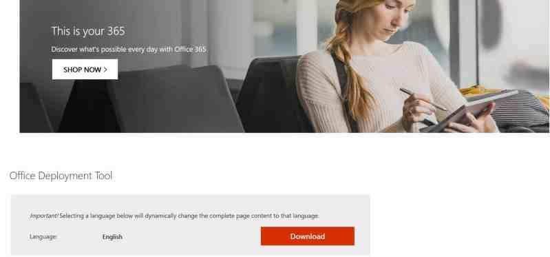 Tải ODT từ Microsoft