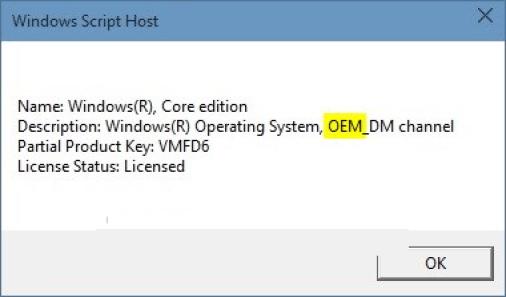Cấp phép Windows 10 OEM
