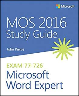 Tải về tài liệu luyện thi Microsoft Word Expert - MOS 2016