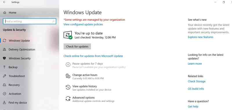 Windows 10 Nov 2019 Update