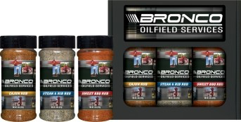 3R8 - 3pk Half Pint Rub Set - Bronco Oilfield Services