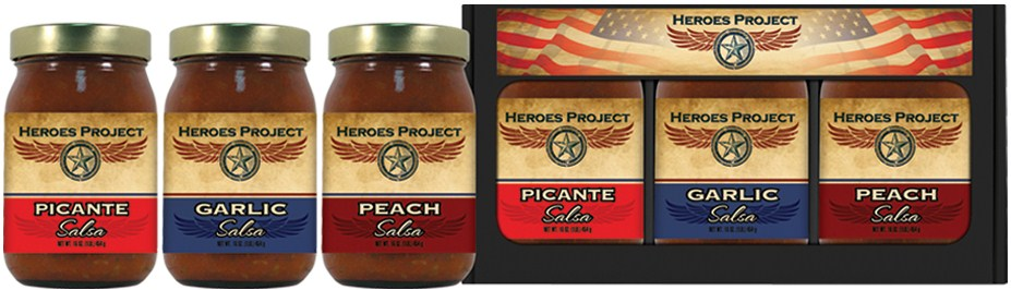3SS - Three Salsa Sampler - Charity - Heroes Project