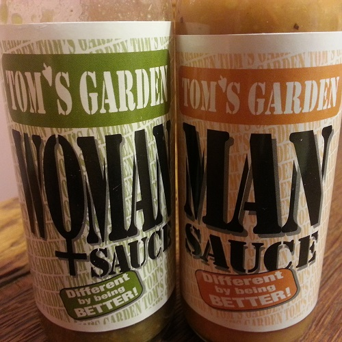 Hot Sauces #12 and 13 – Tom's Garden Man and Woman Sauces Review