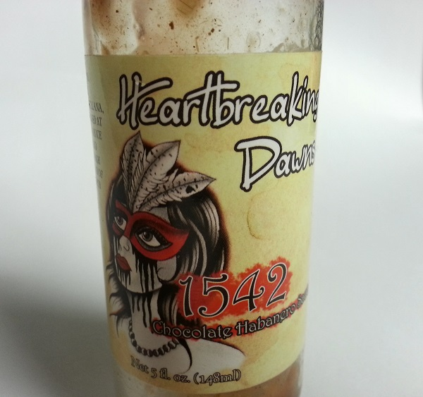 Heartbreaking Dawns 1542 Chocolate Habanero Sauce Review