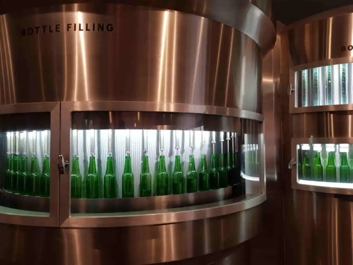 Create a personalised bottle at the Amsterdam Heineken Experience Amsterdam