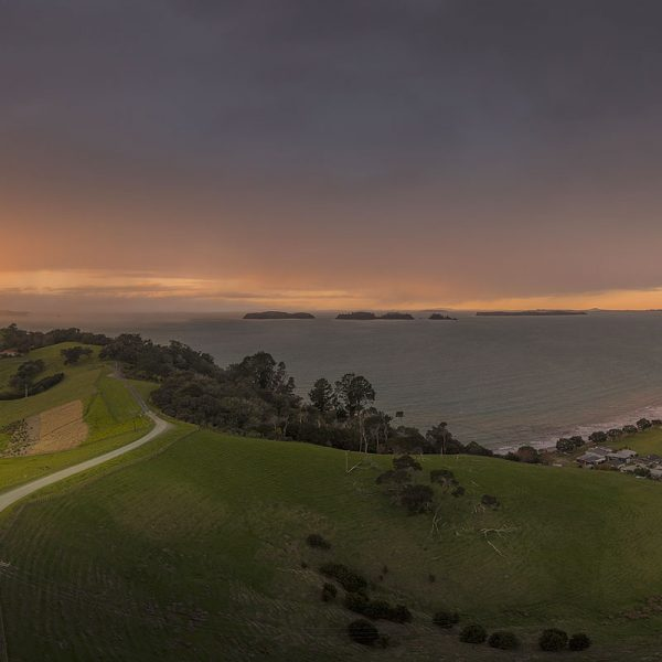 Martins Bay Sunrise Drone Photography in winter
